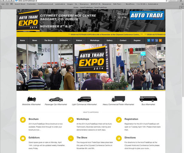 AutoTradeExpo.ie website is very much live