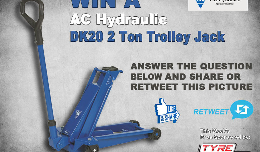 Win a 2 tonne AC Hydraulic trolley jack from TyreCare