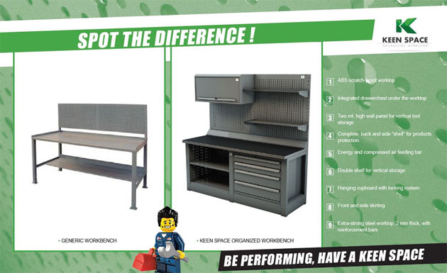 Techplus adds Keen Space work benches