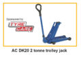 Tipperary native wins AC DK20 two tonne trolley jack sponsored by Tyre Care Ltd
