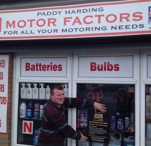 Paddy Harding, Paddy Harding Motor Factor Edenderry