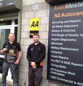 Alan Larkin Justin Lynch N2 Autocare Ashbourne